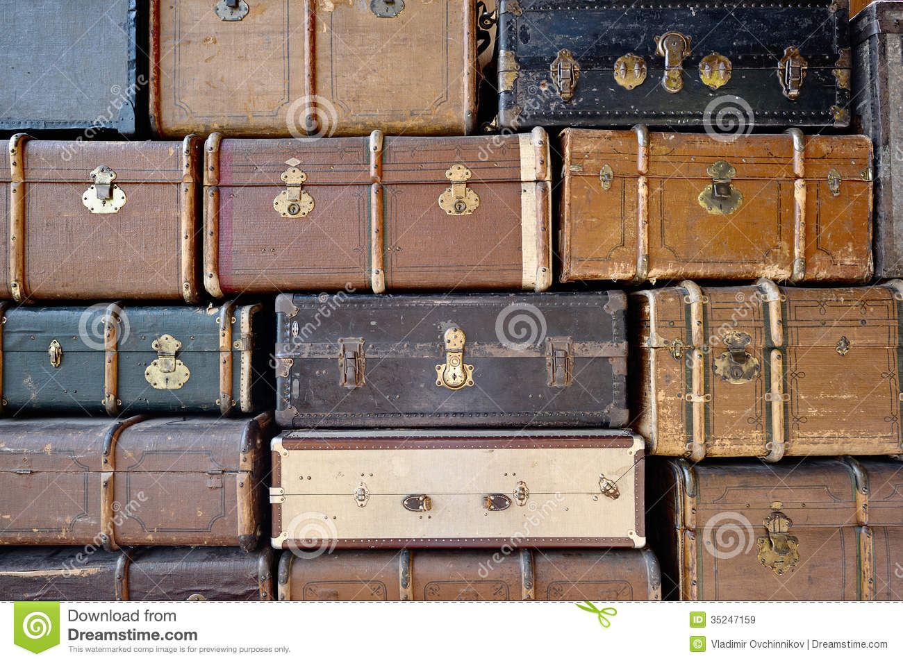 Old luggage royalty free stock images image 35247159