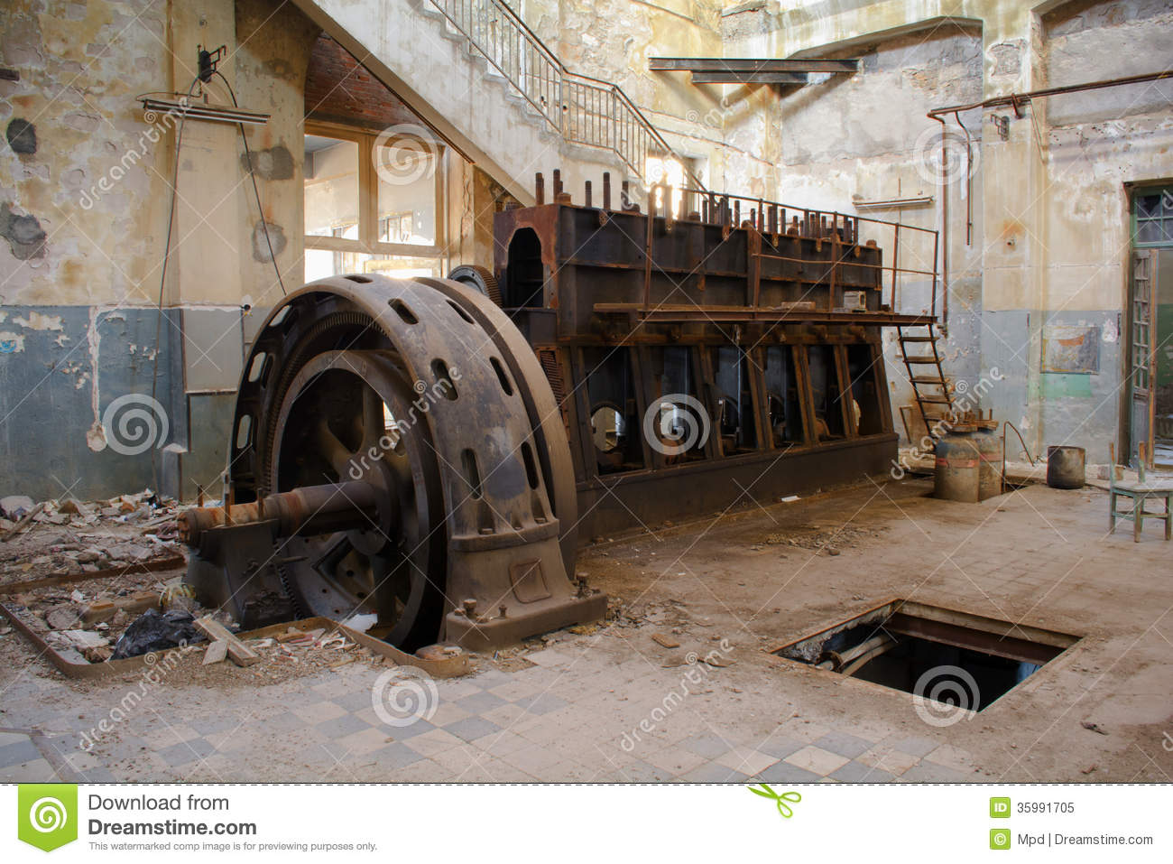 Old machine stock image. Image of cylinders, ruin ...