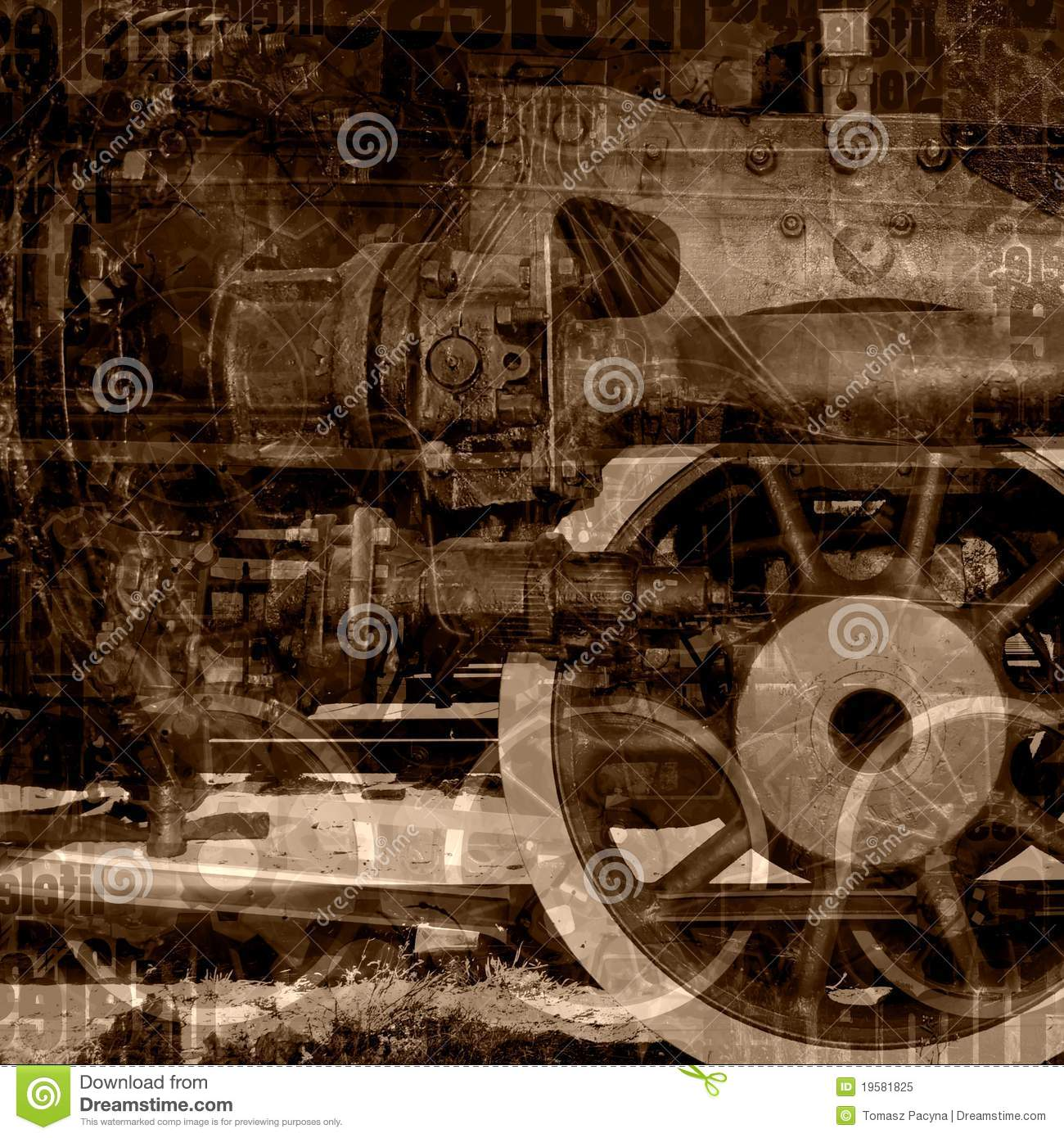Old machinery illustration
