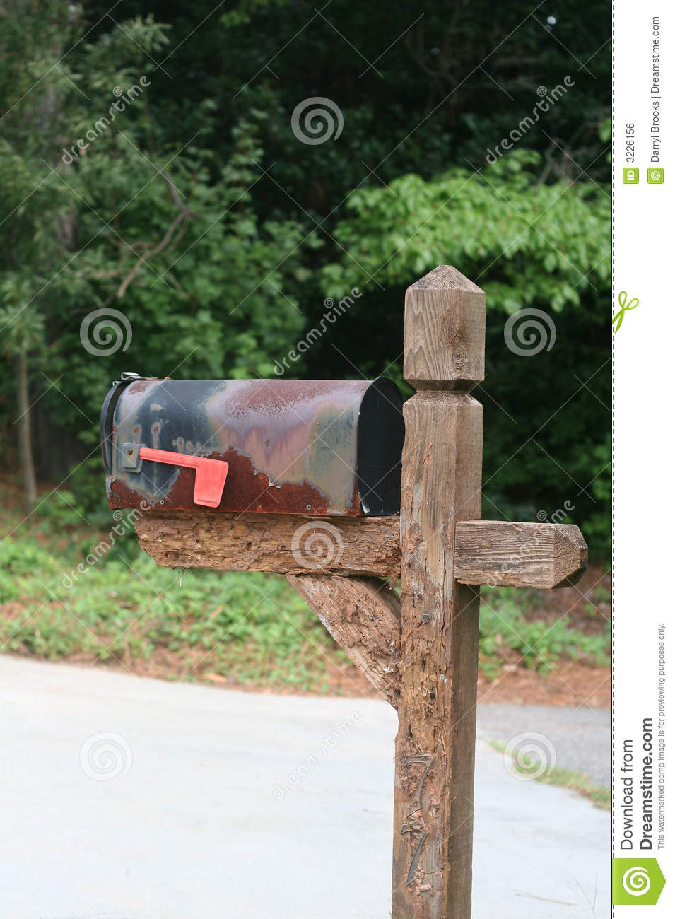 Old Mailbox Royalty Free Stock Image - Image: 3226156