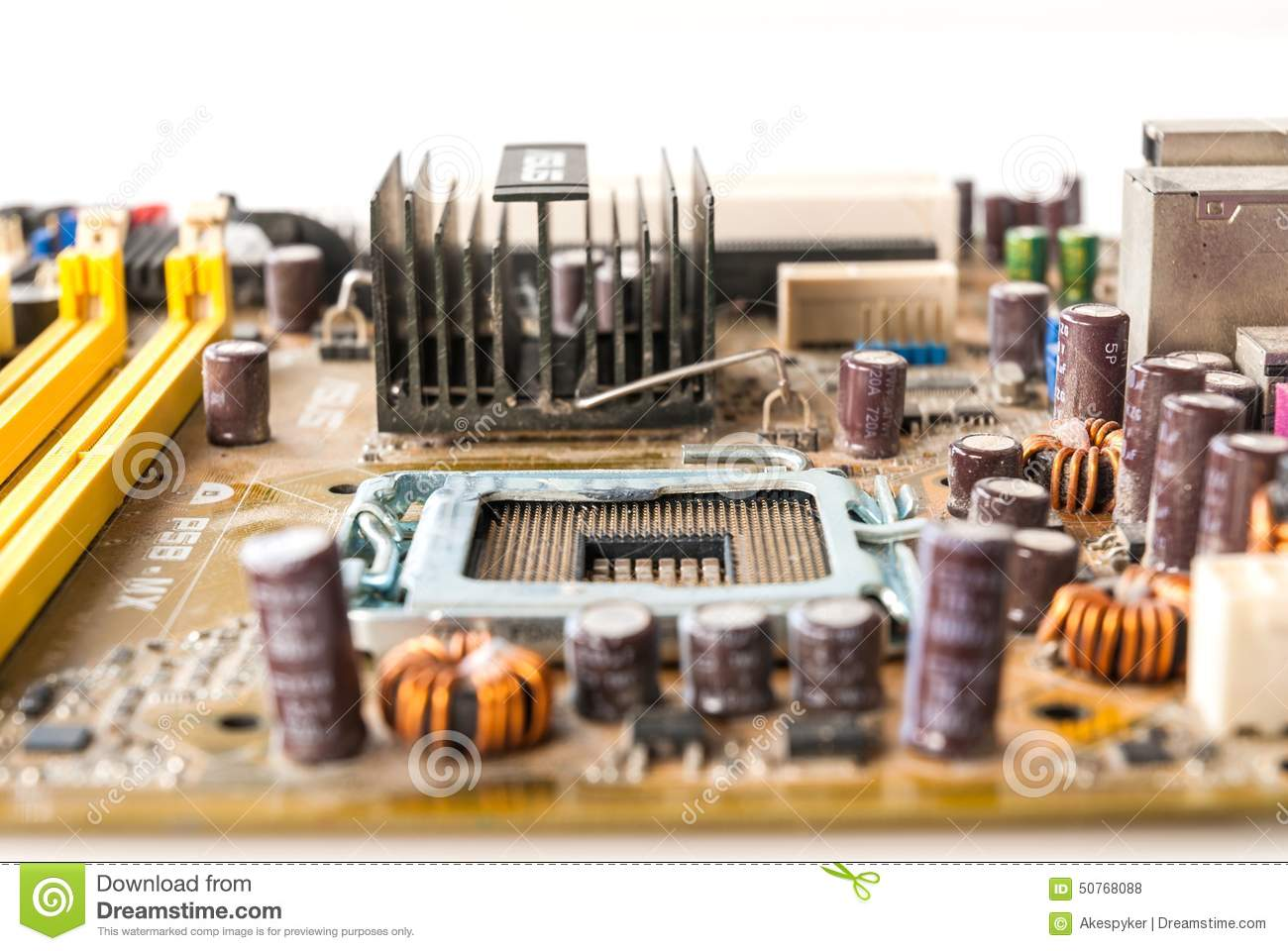 Old Mainboard Stock Photo Image Of Board Background 50768088 Electronic Circuit Royalty Free
