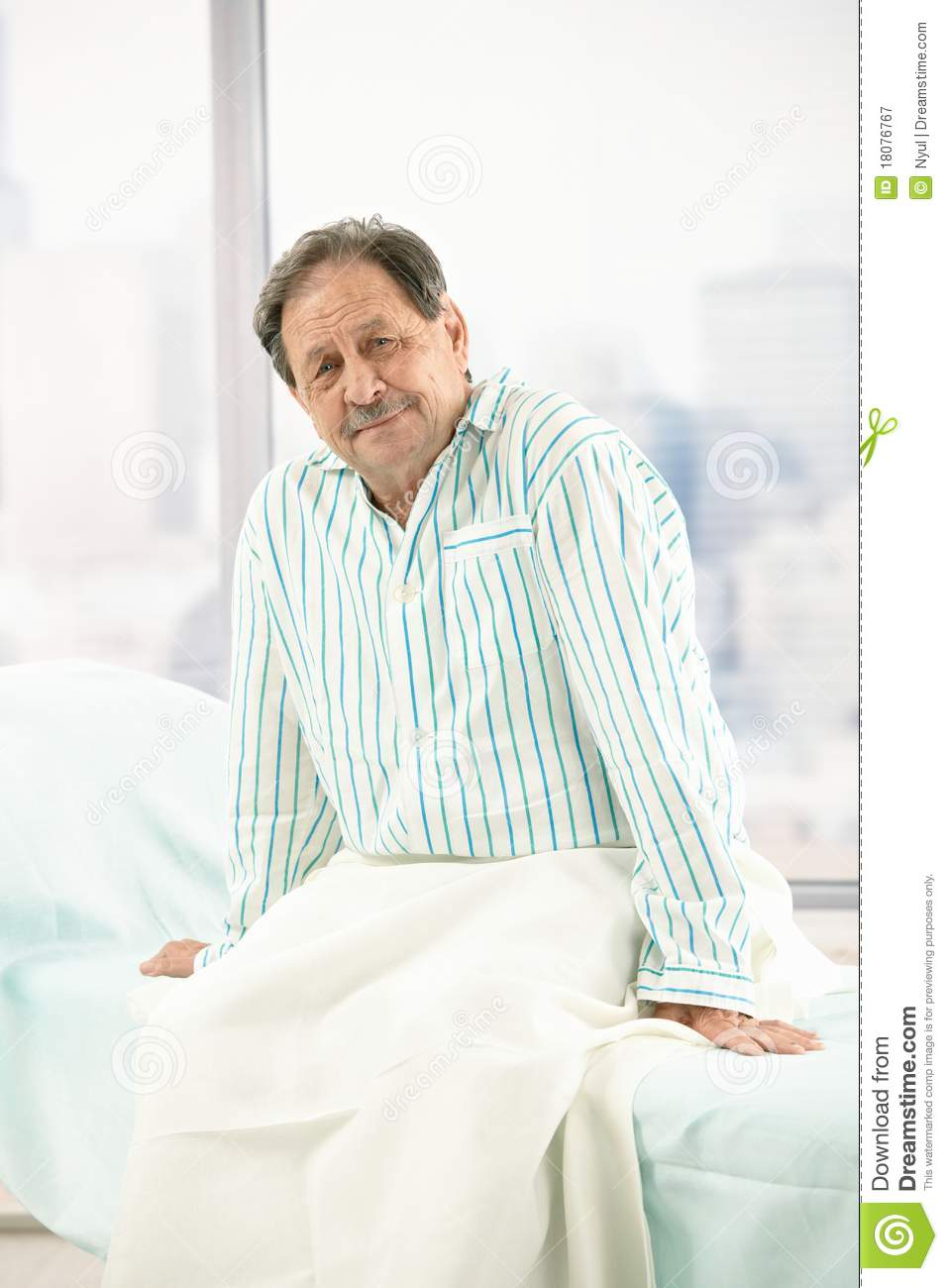 Old Male Patient In Hospital Stock Image Image 18076767