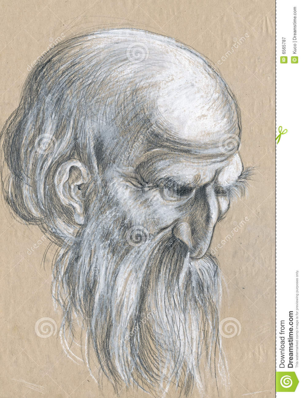 old mans face drawing - photo #13