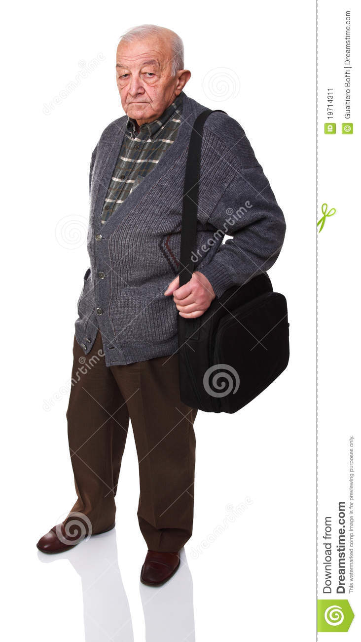 Old Man With Bag Stock Image - Image: 19714311