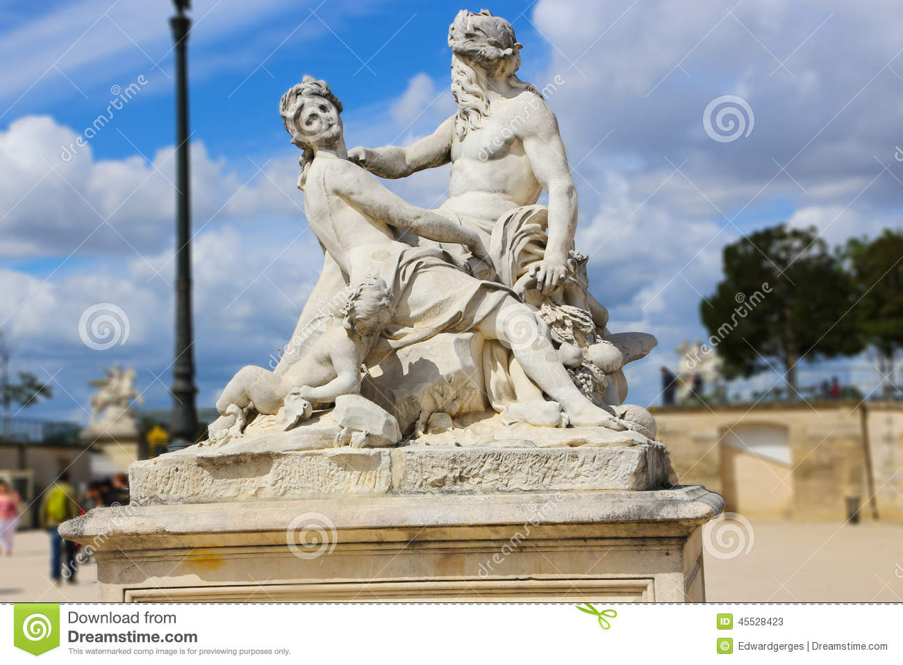 old man and beautiful woman statue paris stock photo image 45528423. Black Bedroom Furniture Sets. Home Design Ideas