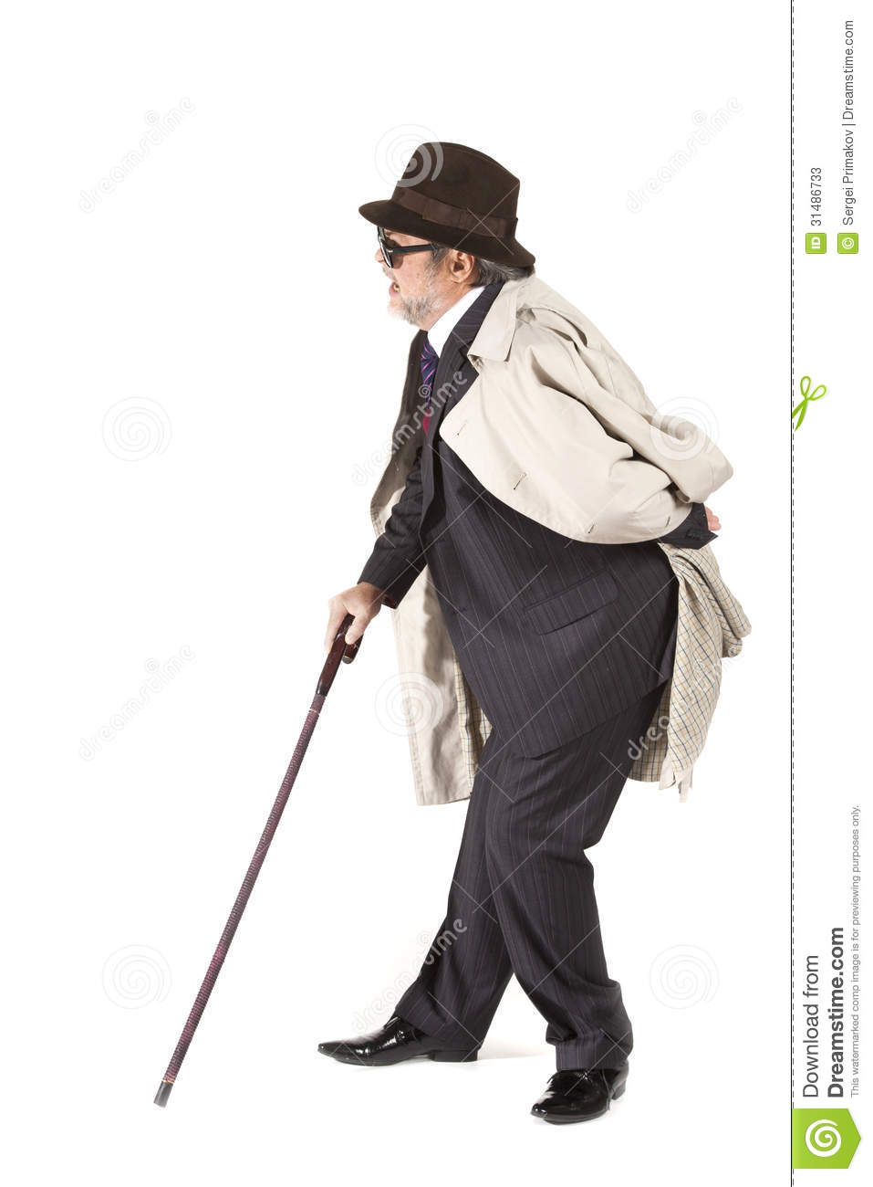 Old Man With A Cane Stock Photos - Image: 31486733