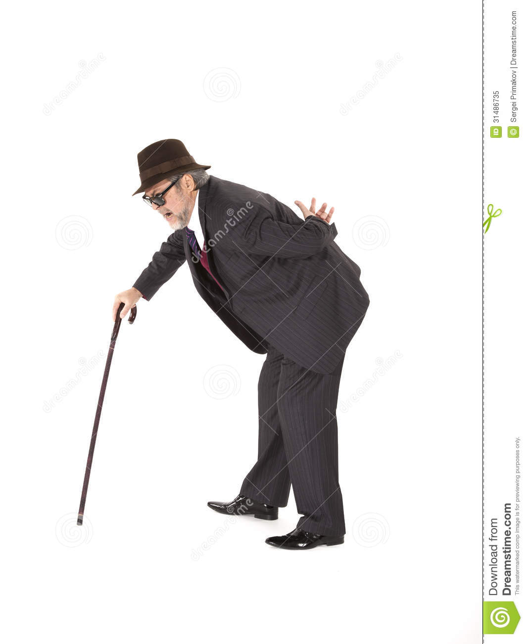 Old Man With A Cane Royalty Free Stock Photo - Image: 31486735