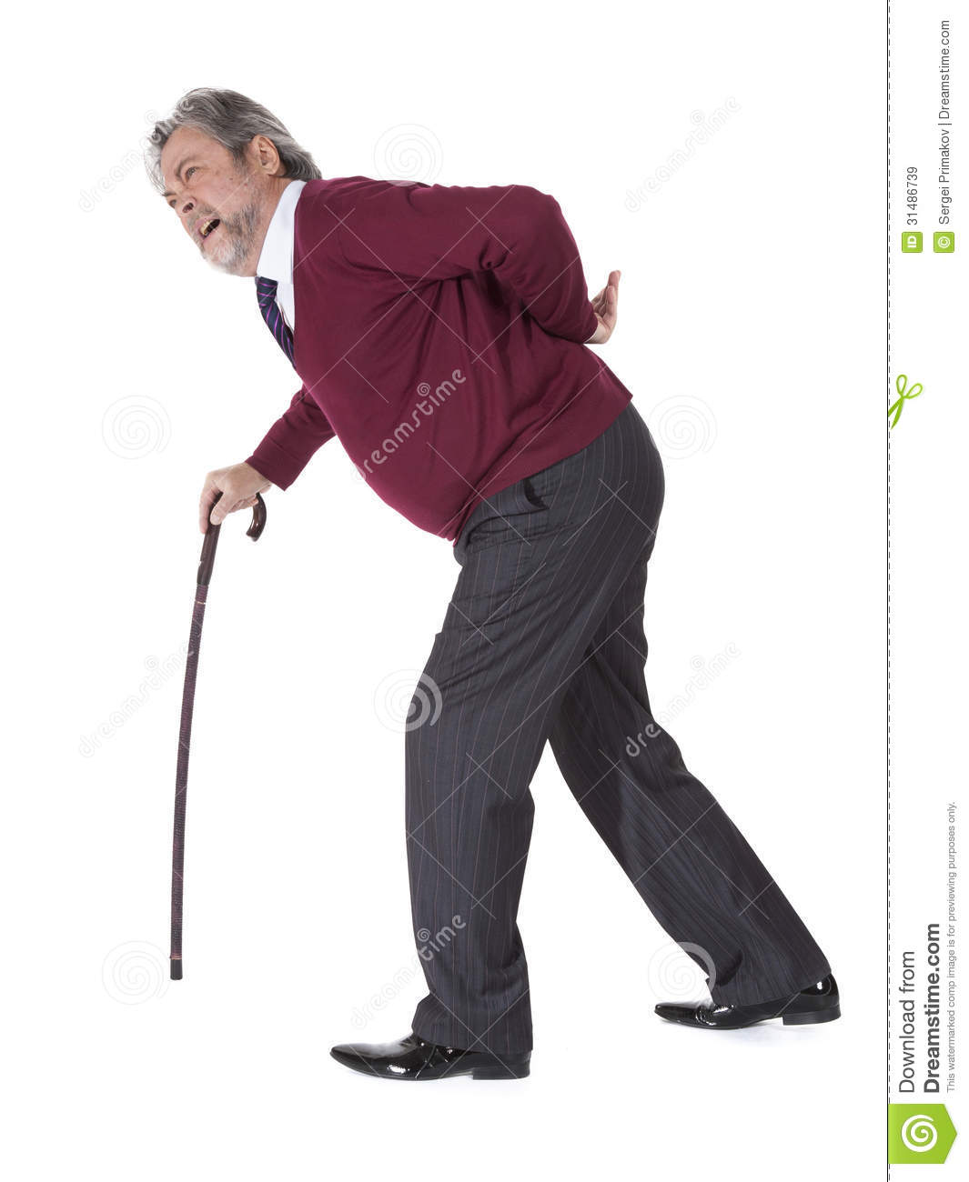 Old Man With A Cane Royalty Free Stock Images - Image ...