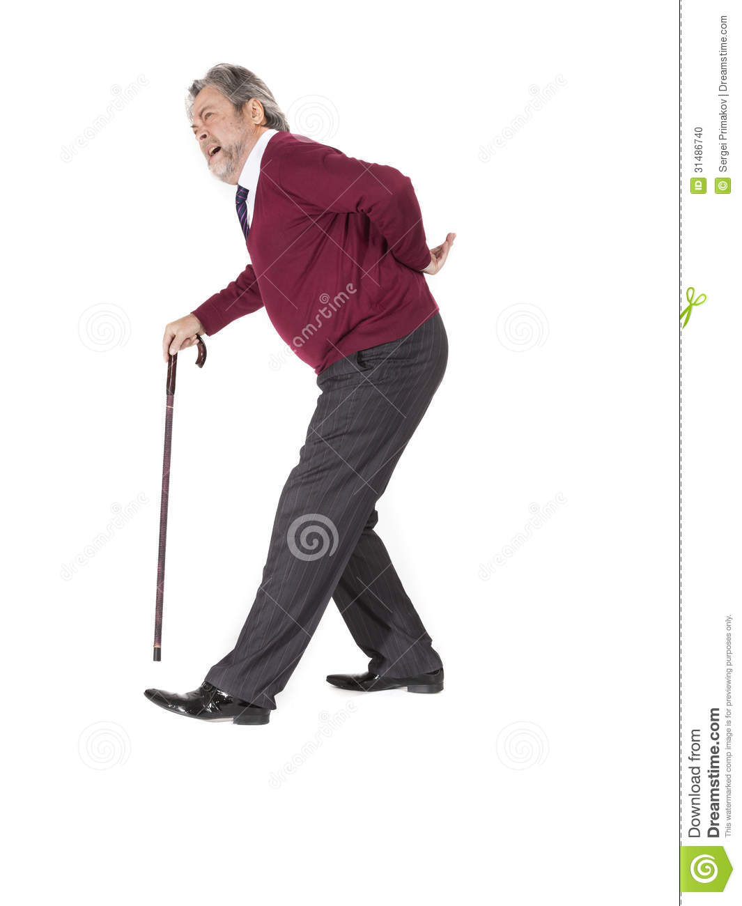 Old Man With A Cane Stock Photo - Image: 31486740