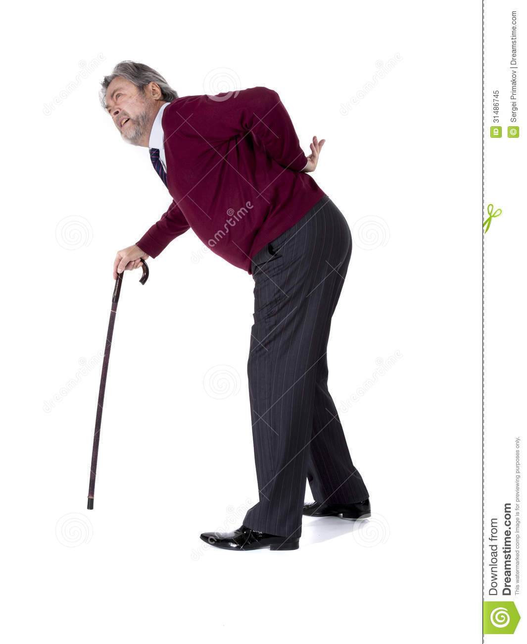 Old Man With A Cane Royalty Free Stock Photo - Image: 31486745