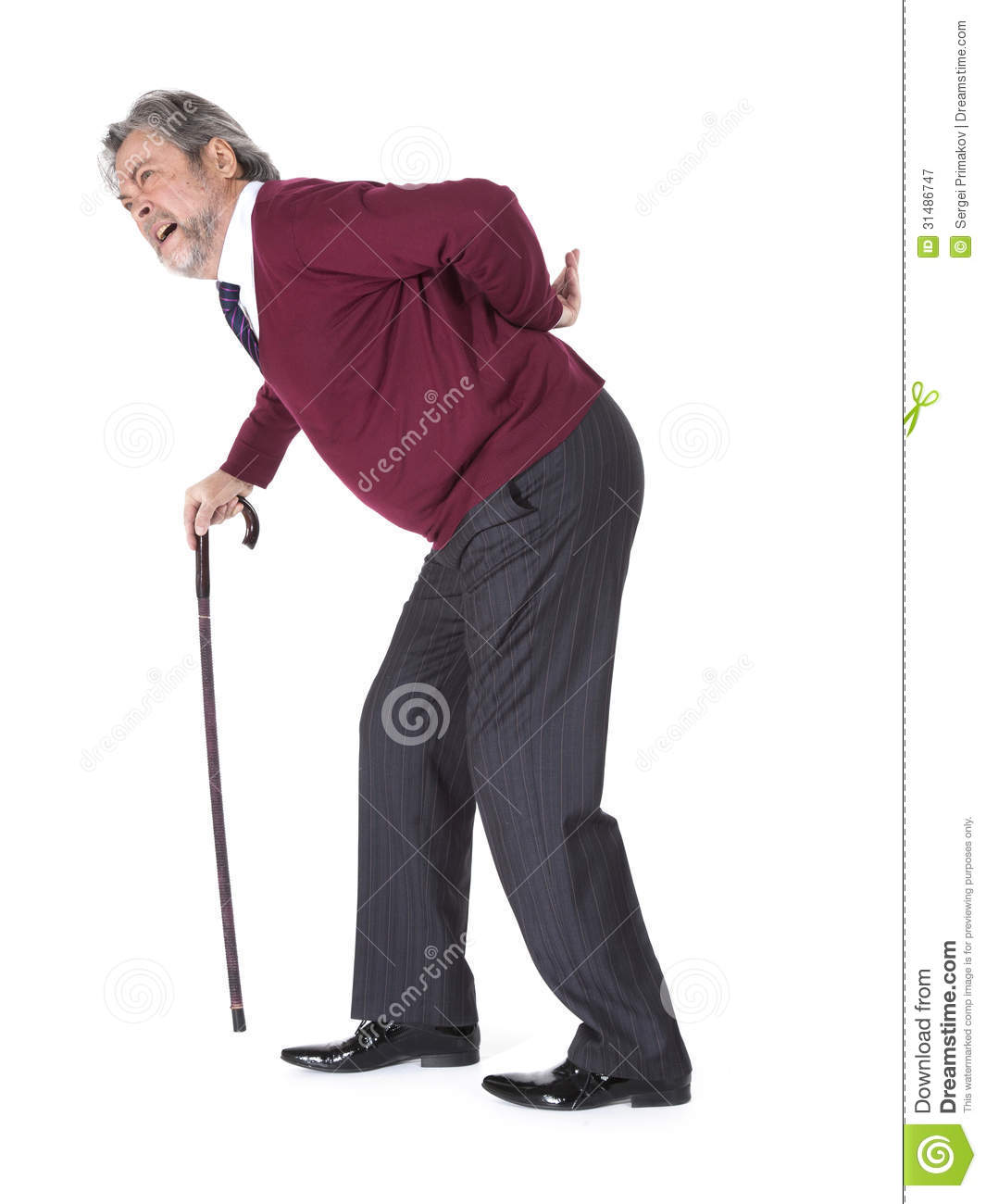 Old Man With A Cane Royalty Free Stock Photography - Image ...