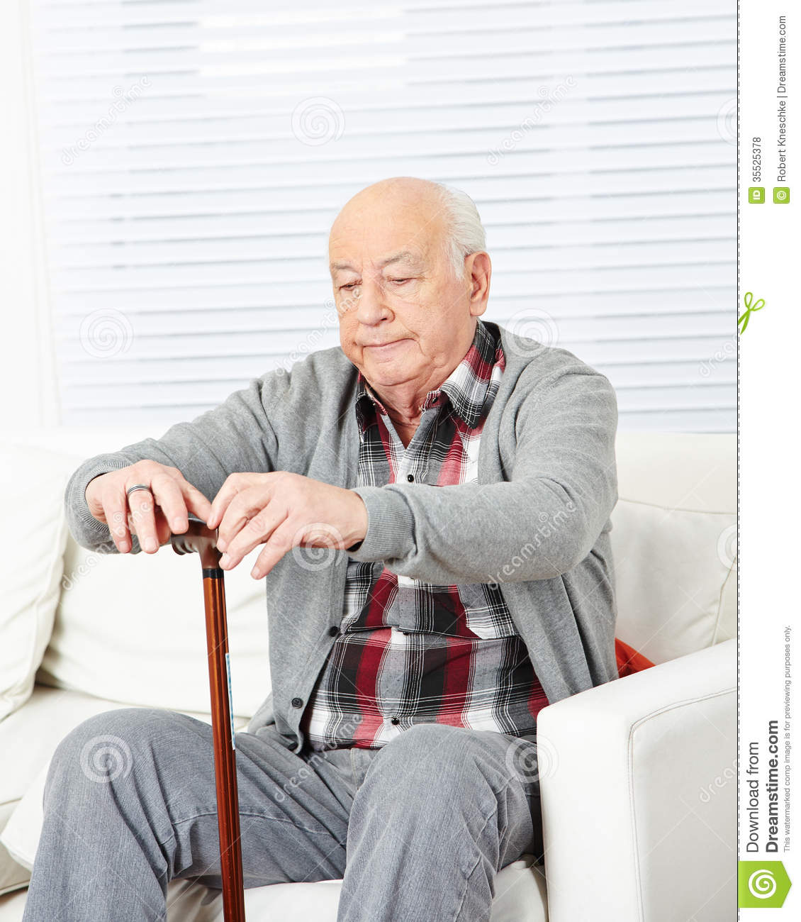 Old Man With Cane At Home Royalty Free Stock Photos ...