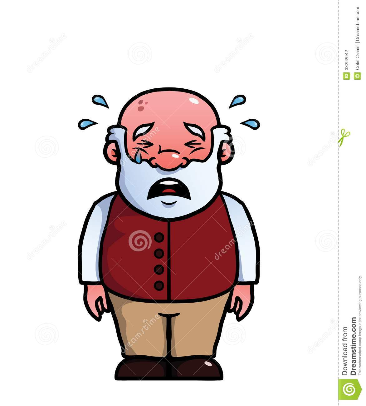 Old Man Crying Stock Photography - Image: 33292042