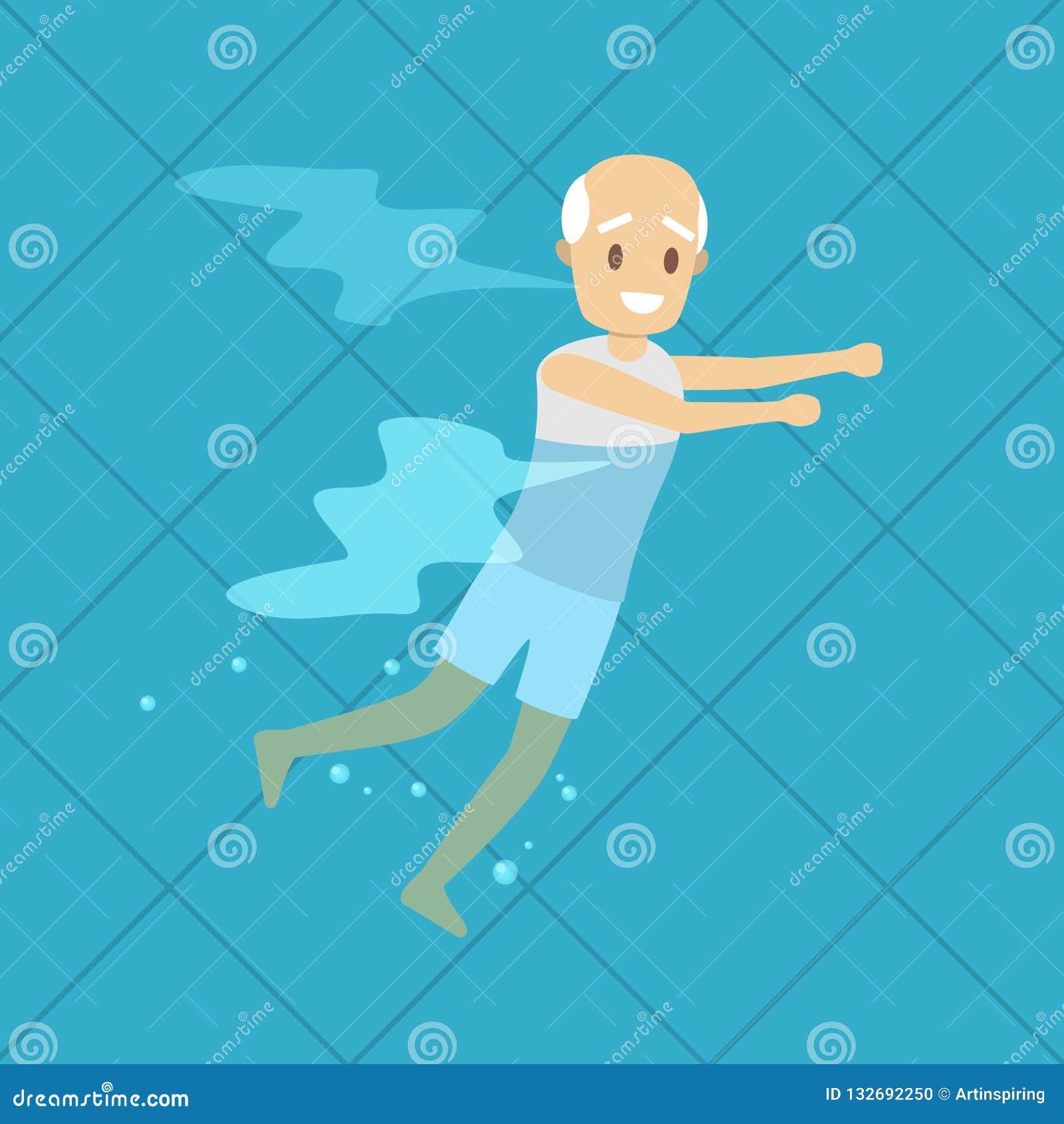 Aqua Gym Exercise Swimming Pool Stock Illustrations 80