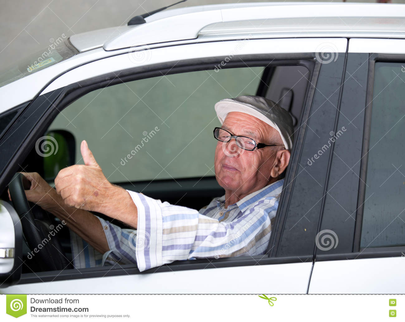 Old man driving car stock photo. Image of leasing, driver - 78035648