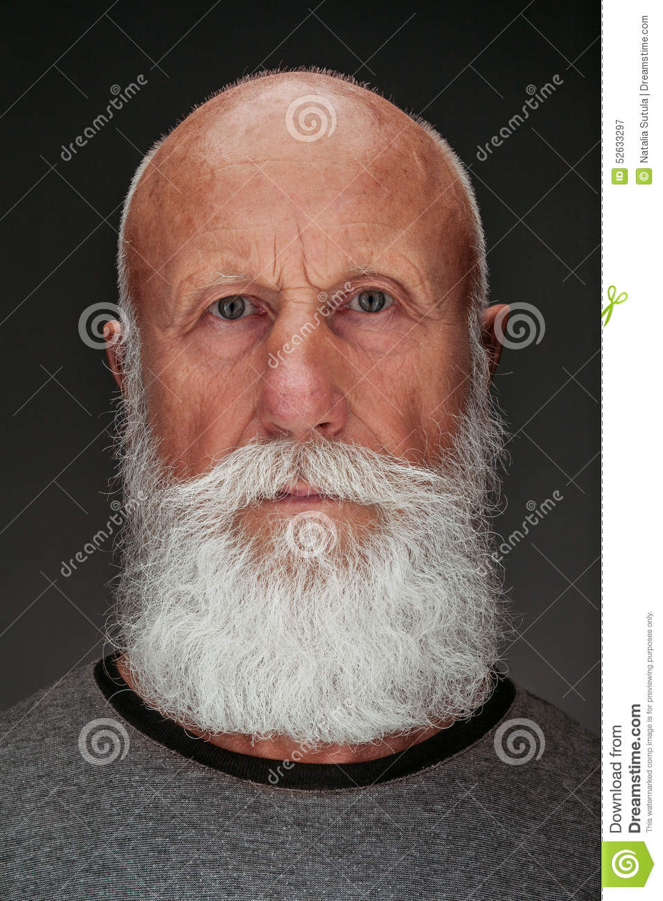 Admirable Old Man With A Long White Beard Stock Photo Image 52633297 Short Hairstyles For Black Women Fulllsitofus