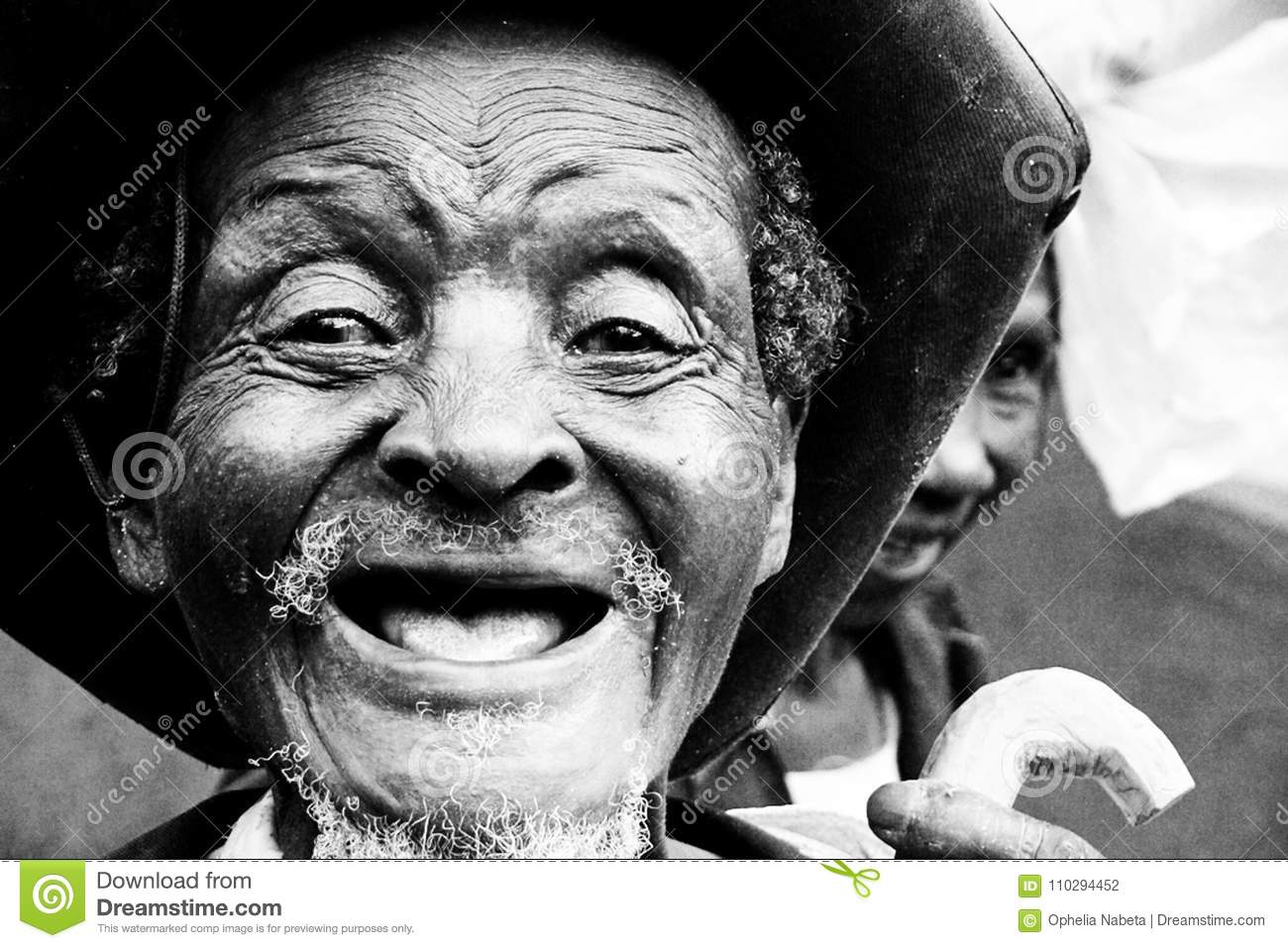 Old people with no teeth
