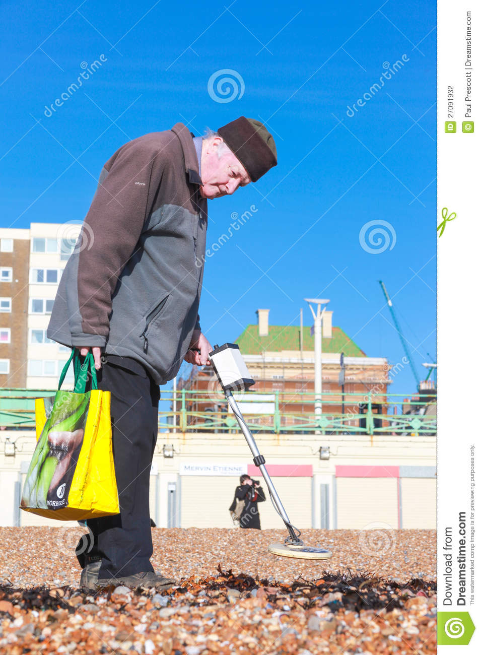 Jew Detector: Old Man And Metal Detector Editorial Photography