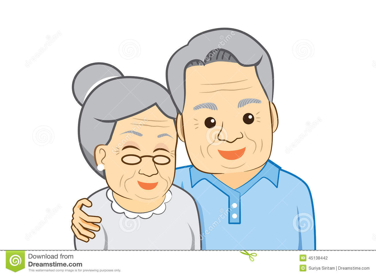 Old man and old lady