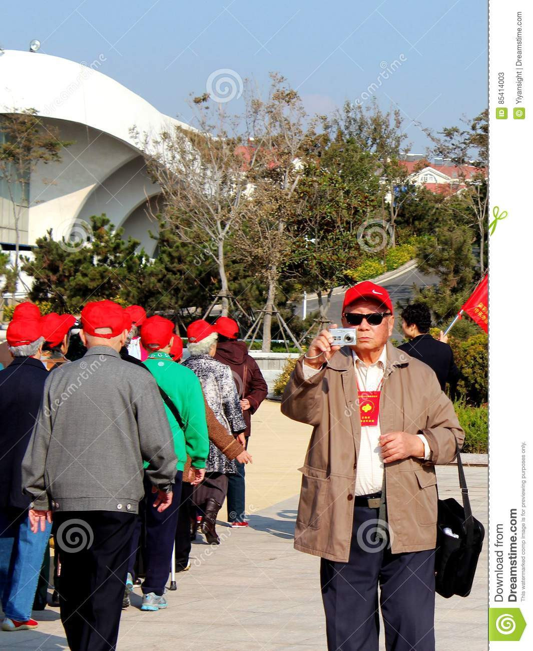 Download The Old Man Out Of The Queue To Take Pictures Editorial Stock Photo - Image of nursing, queue: 85414003