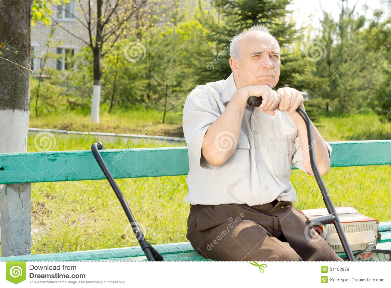 Old Man Outdoors Royalty Free Stock Images - Image: 31102979