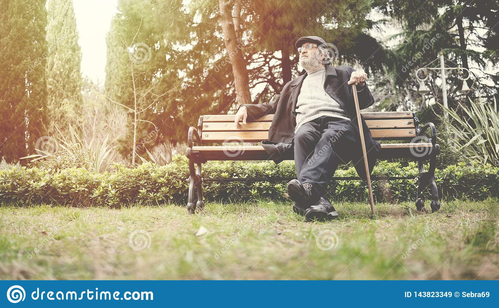 Old man in the park