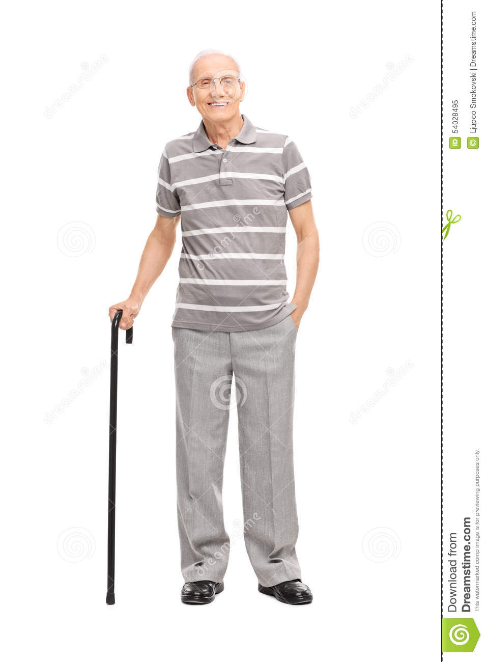 Image Gallery old man holding cane