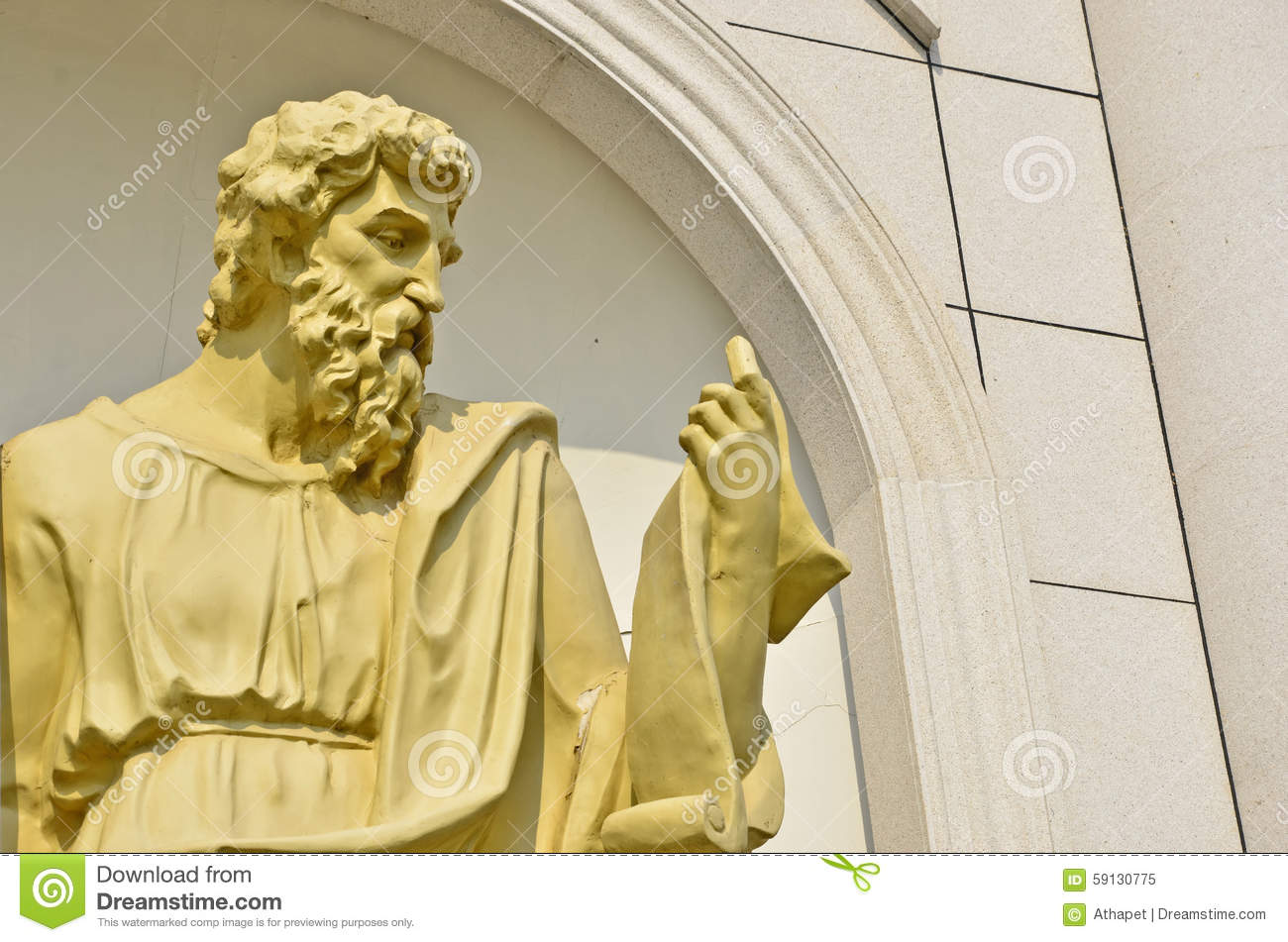Old man Roman sculpture stock image. Image of gold, stone - 59130775