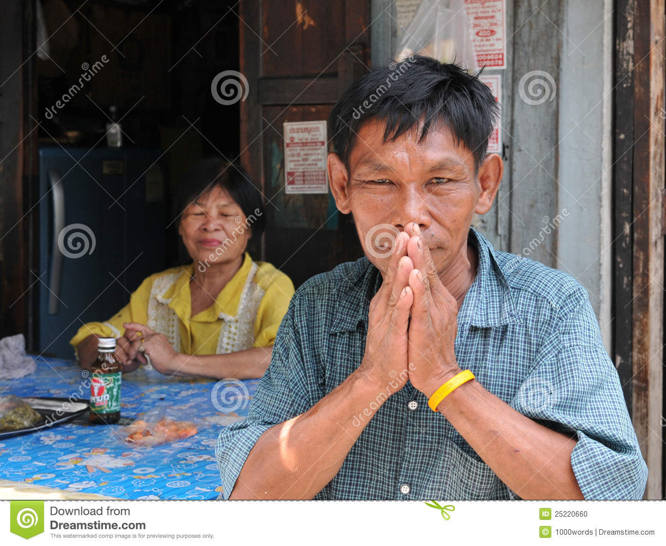 Old man salutes with a traditional thai greeting editorial image old man salutes with a traditional thai greeting kristyandbryce Images