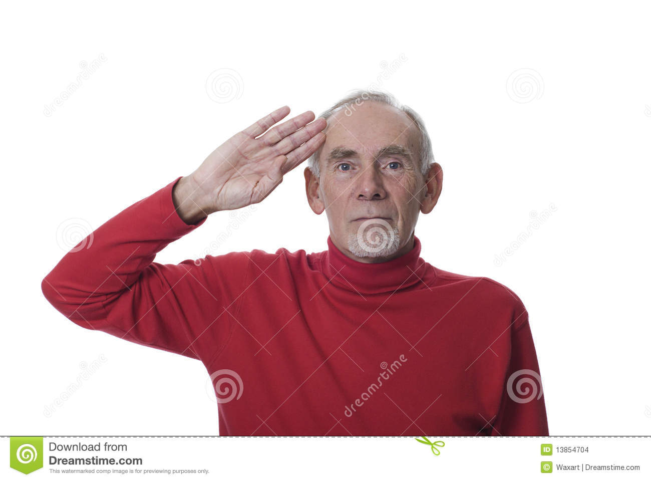 Old Man Saluting In Respect Stock Images Image 13854704