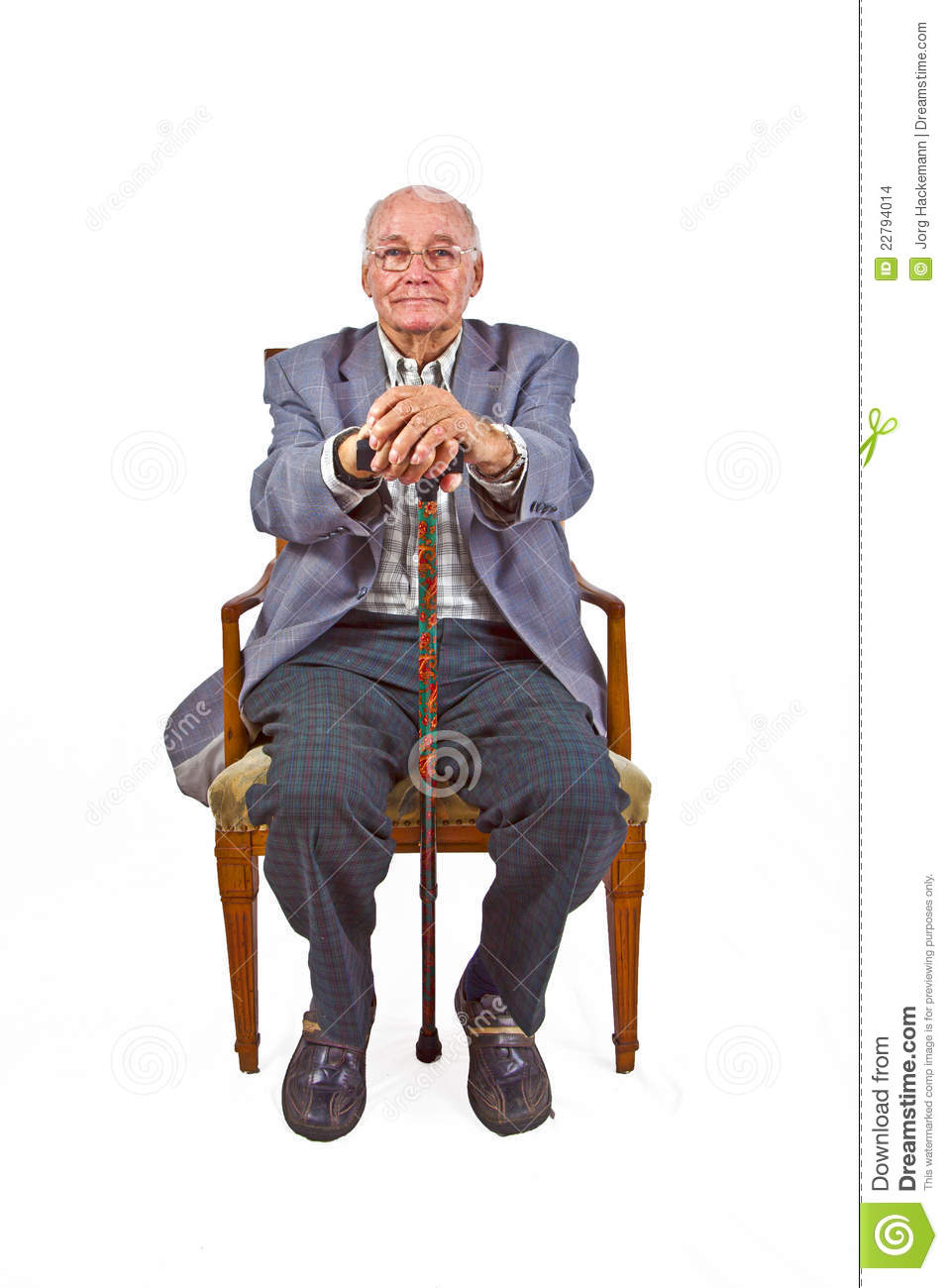 Old Man Sitting In The Armchair Stock Photo Image 22794014