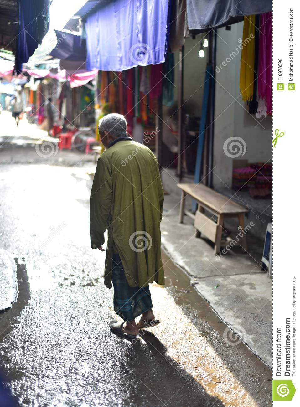 Download An Old Man Standing Around An Urban Marketplace Unique Photograph Editorial Image - Image of around, stock: 116973590