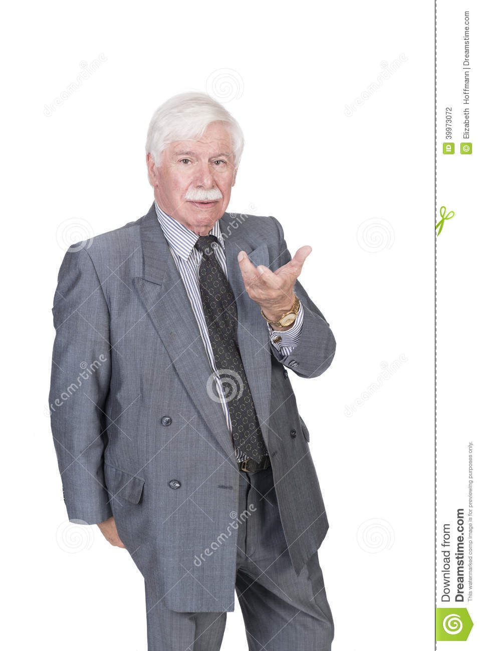 Old man in suit and gray hair with open hand stock photo image of royalty free stock photo publicscrutiny Images