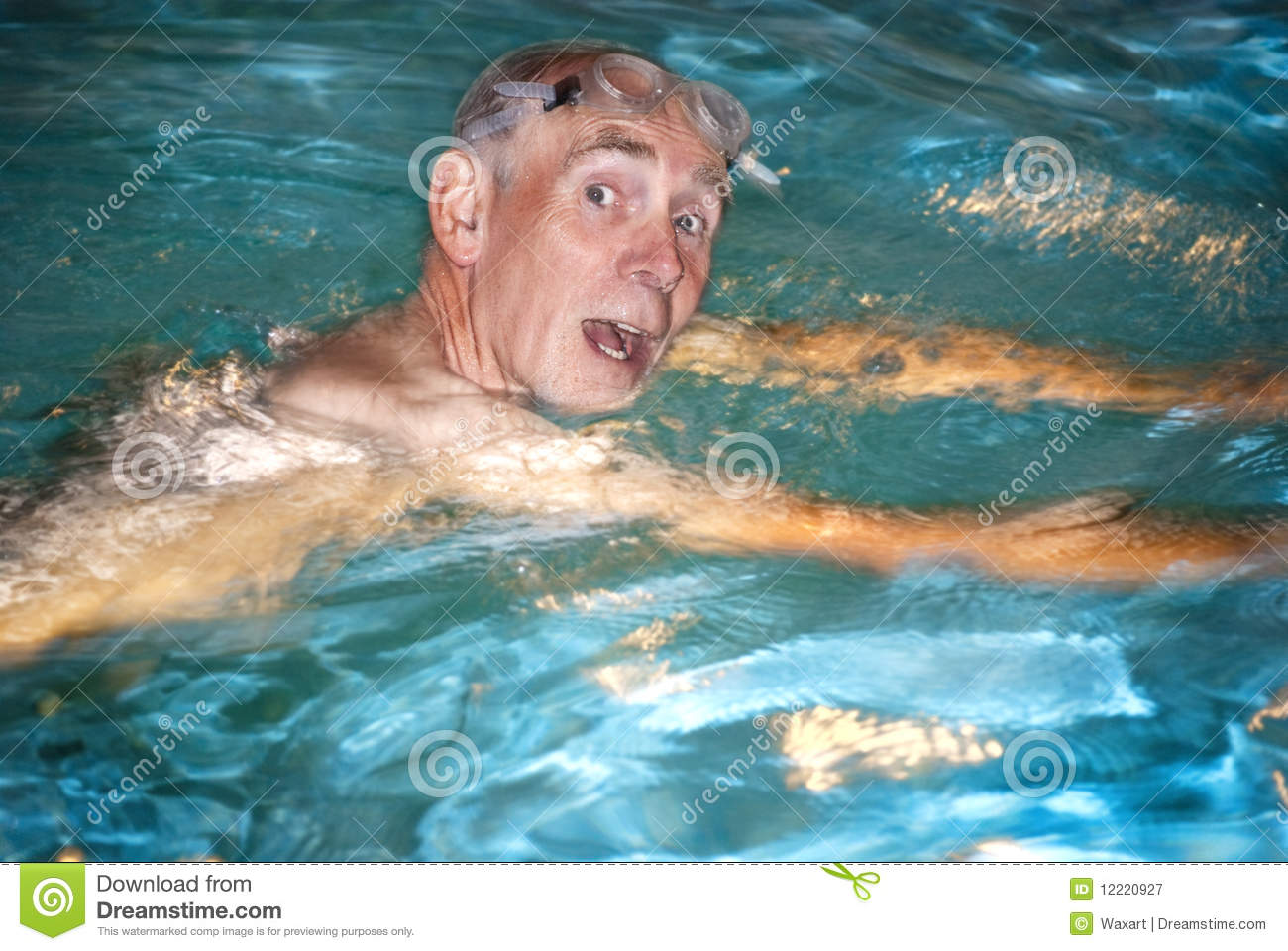 Old man swimming in pool stock image image of pool blue for What to do with old swimming pool