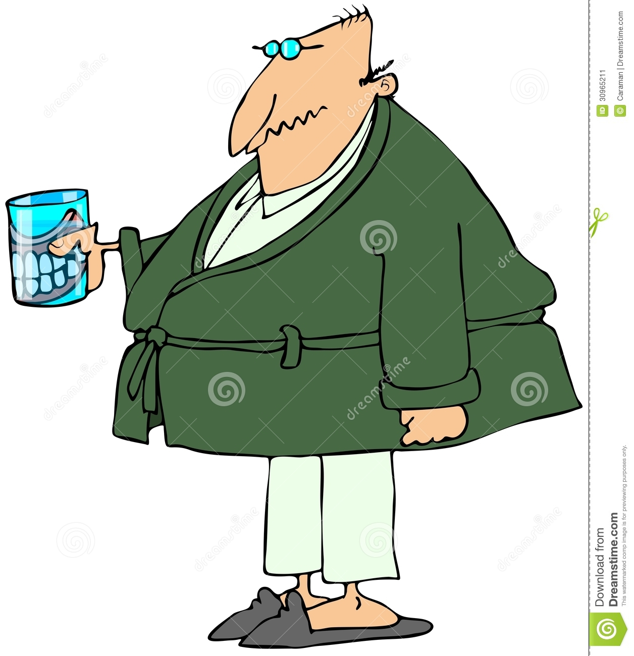 Old Man With Teeth In A Glass Stock Image Image 30965211