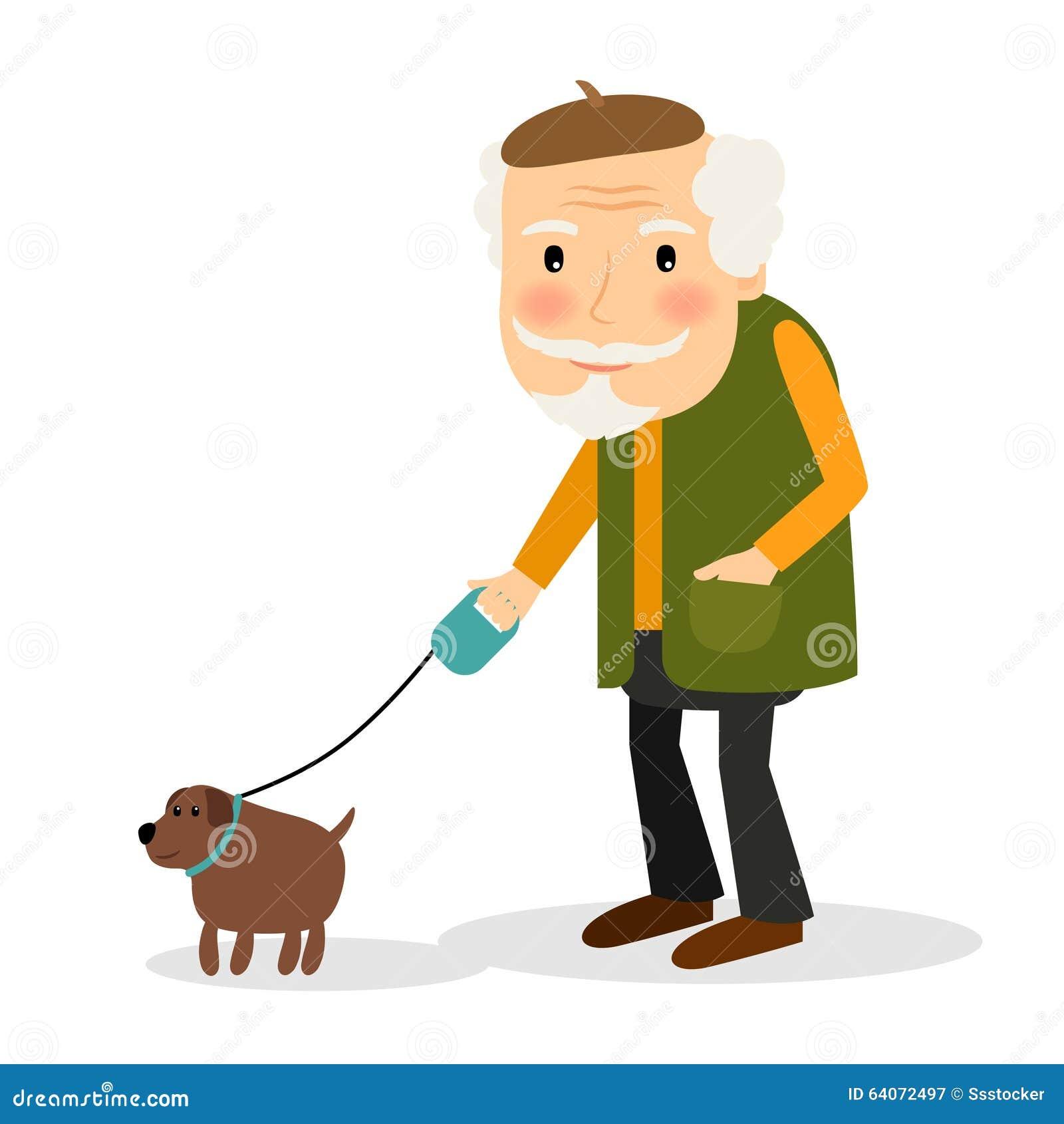 Black Man Walking A Dog