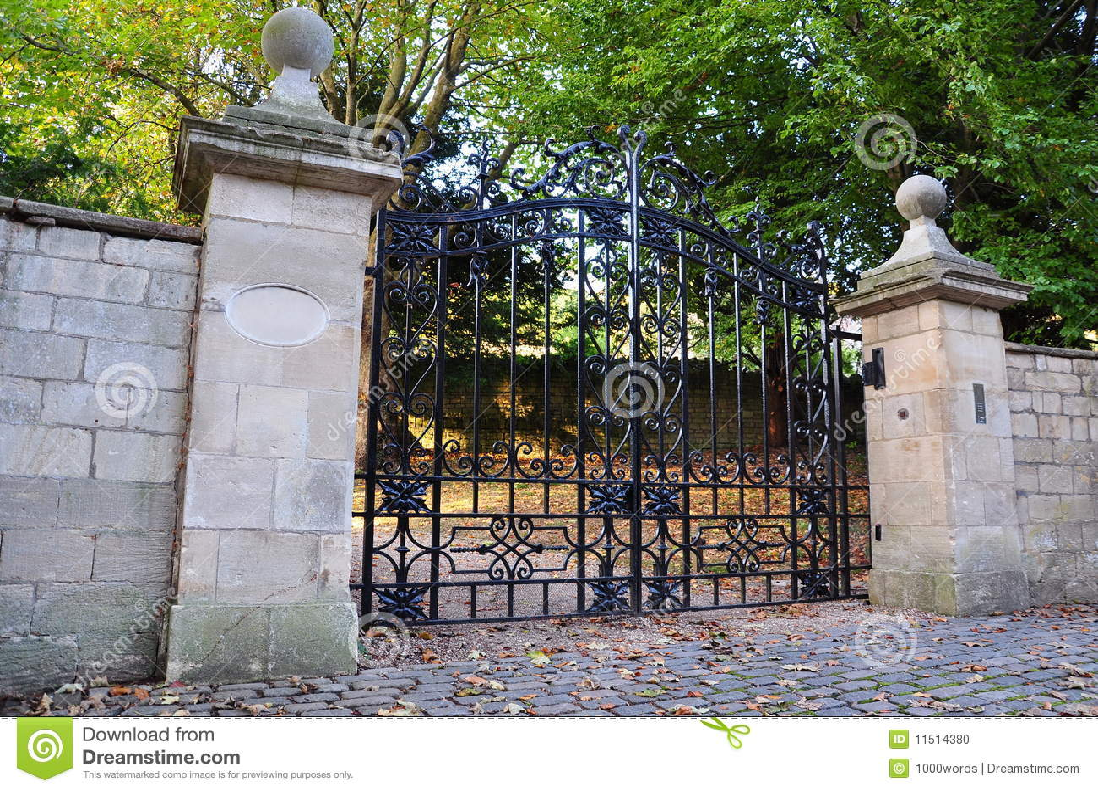 Old Mansion Gates Stock Photo Image 11514380