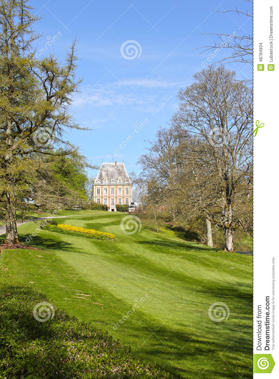 Old Mansion On Green Hill Stock Photo Image Of Country
