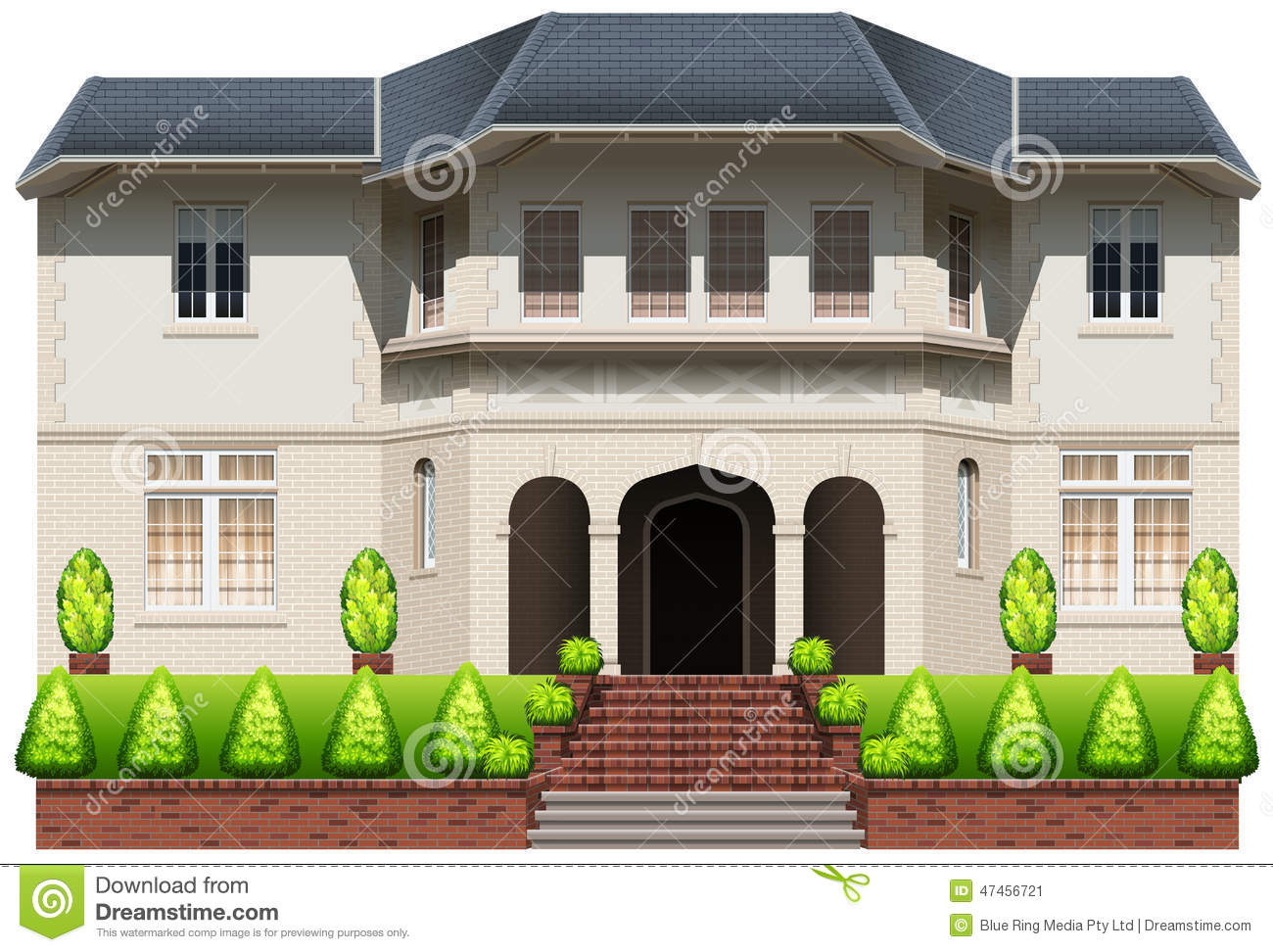 Download An Old Mansion Stock Vector Illustration Of Drawing