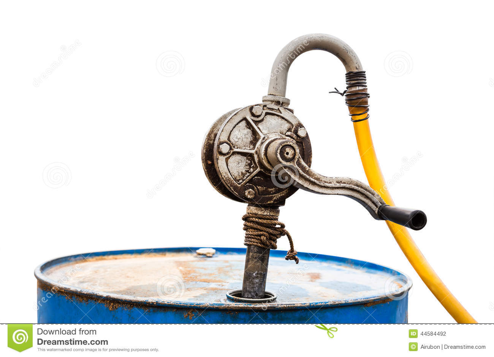 Old manual gasoline pump