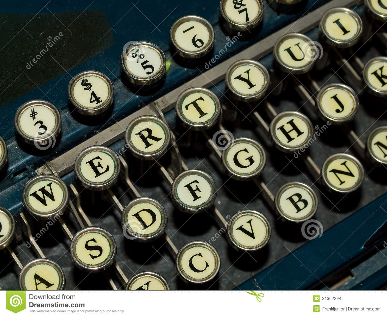 Old Manual Typewriter Stock Photo Image Of Creative 31362294