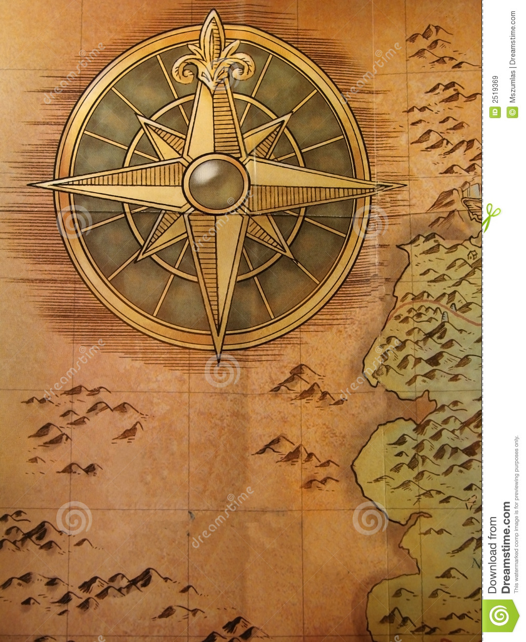 Http Www Dreamstime Com Royalty Free Stock Images Old Map Image2519369