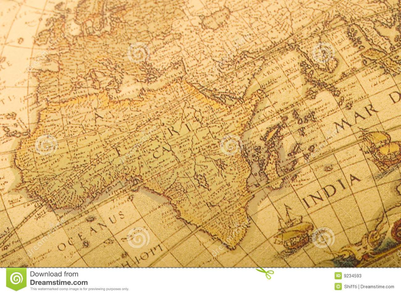 Old Map Stock Photos Image 9234593