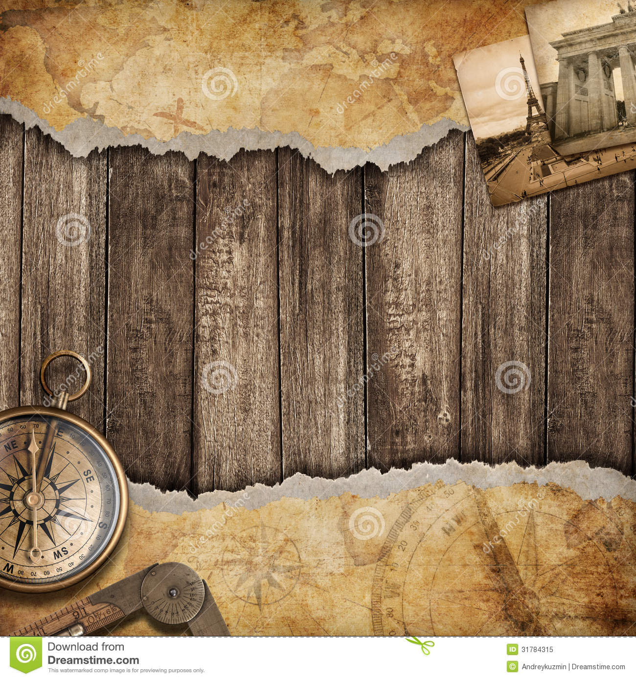 Old map background with compass adventure or discovery concept old map background with compass adventure or discovery concept gumiabroncs Images