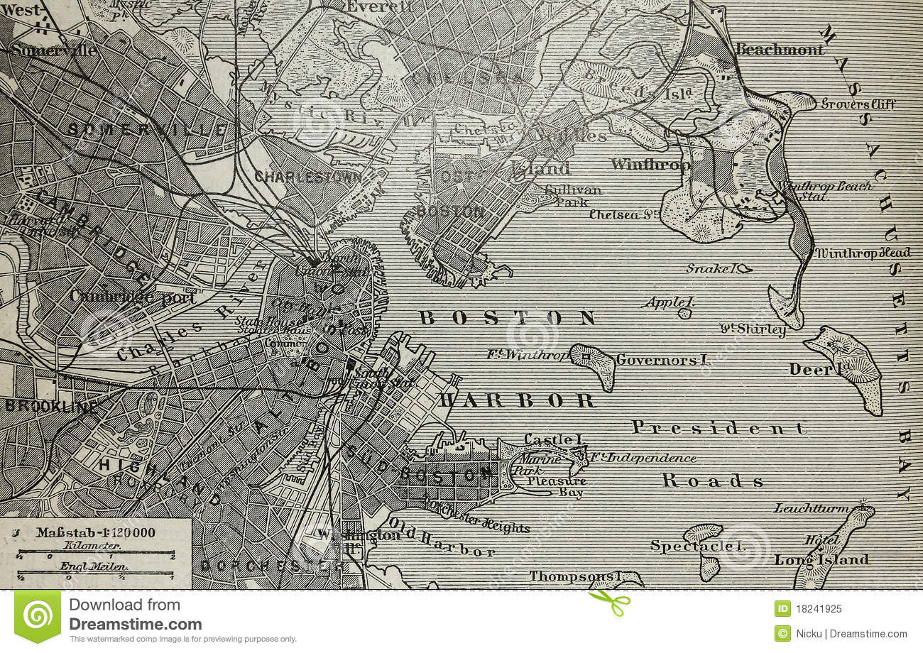 Old paris street map royalty free stock photo image 15885665 - Royalty Free Stock Photo Black Boston Harbor Map Old