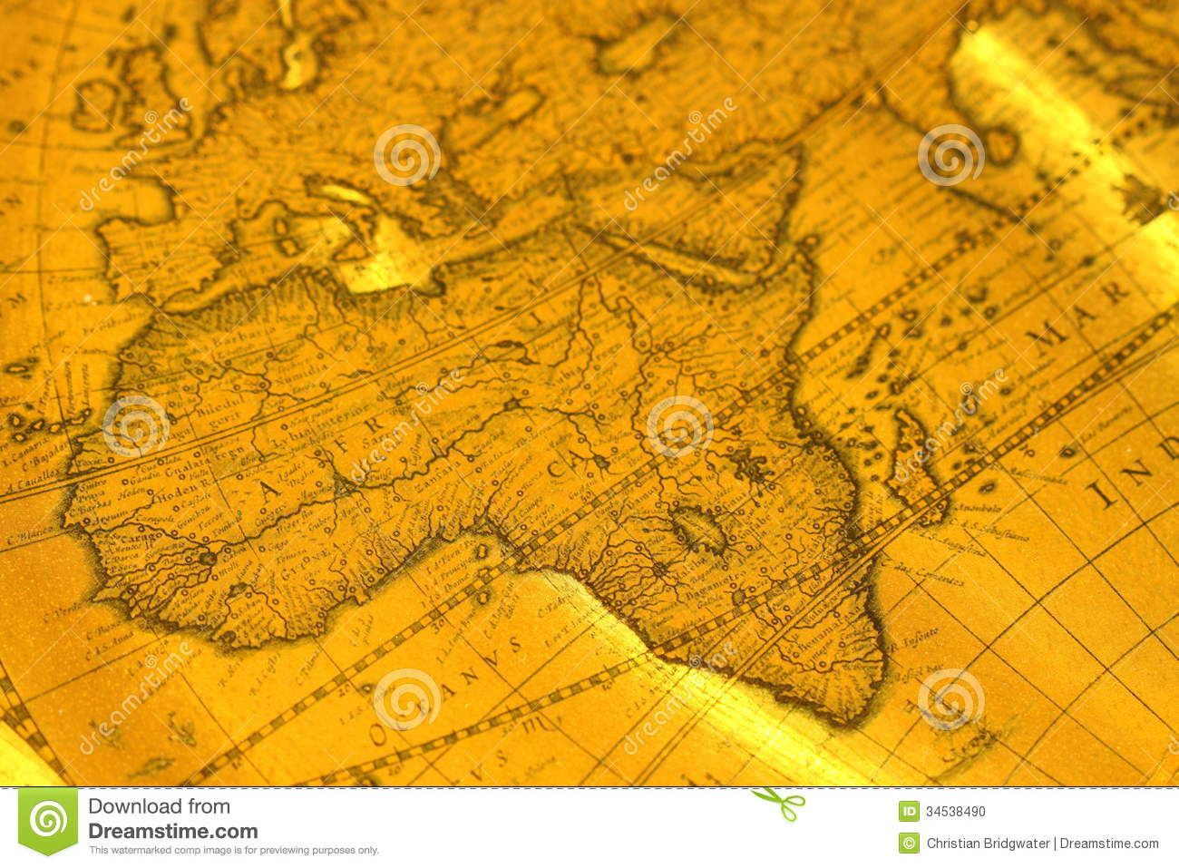 Old Map D Photograph Africa