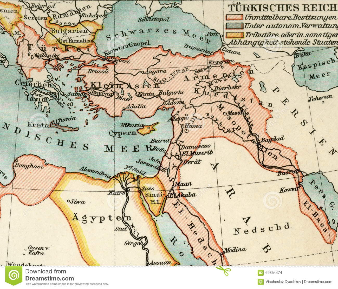 Picture of: Old Map From Geographical Atlas 1890 The Turkish Ottoman Empire Turkey Stock Photo Image Of Border Europe 69354474
