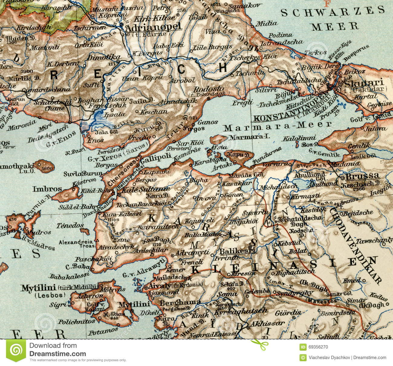 Picture of: Old Map From Geographical Atlas 1890 The Turkish Ottoman Empire Turkey Stock Photo Image Of Early Burnt 69356270