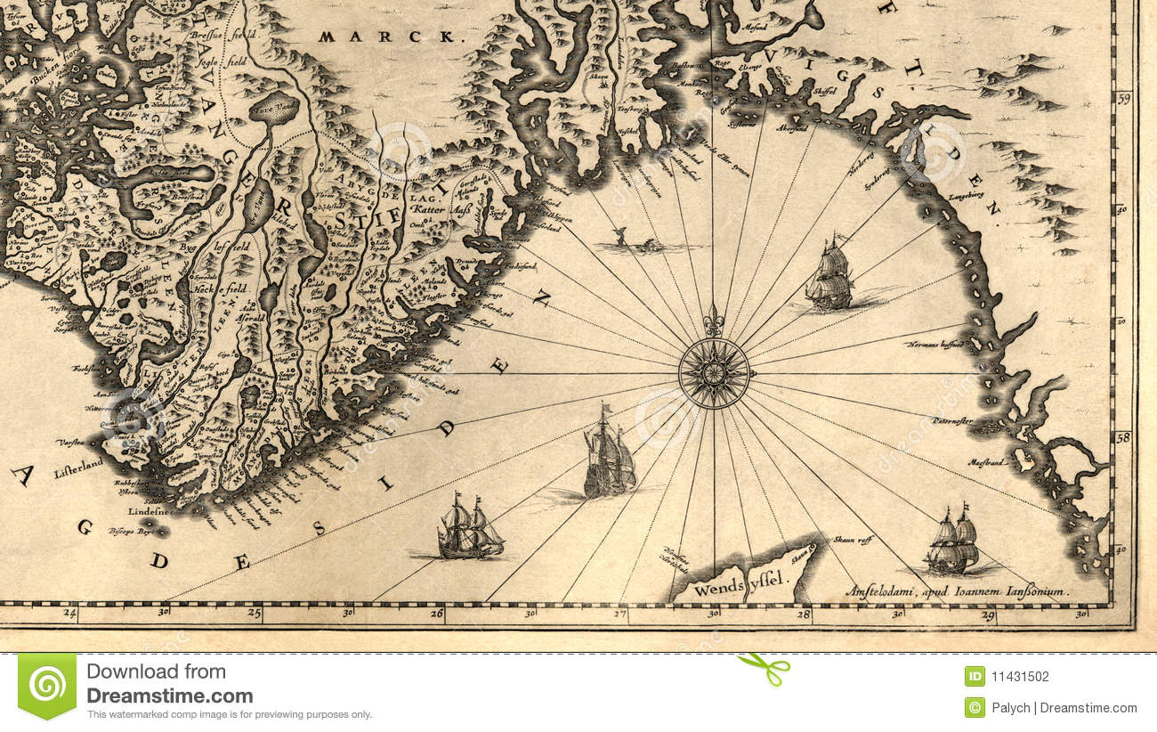 Old Map Of Norway Stock Photography Image - Norway map free download