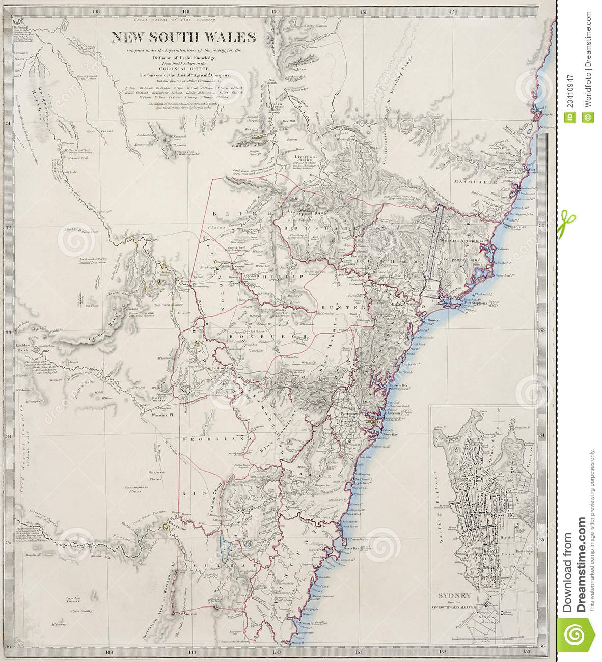 new south wales map pdf